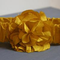 Sunshine Yellow Silk Flower Belt