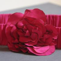 Fuchsia Silk Flower Belt